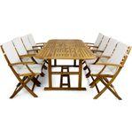 Utemöbler - Förlängningsbart bord + 8 stolar