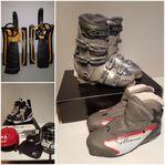 Snowracer, skridskor, hjälmar och pjäxor