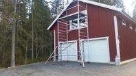Byggställning 6,2 m Rullställning