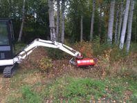 Kampanj Släntklipp slyröjare grävmaskin