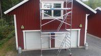 Byggställning 6,2m med lutande stege