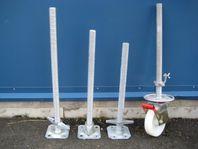 Skruvfötter & Hjul till byggställning