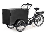 Cargobike Box Electric lastcykel med lock