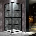 Trendig duschvägg i industridesign / spröjs