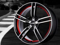 Nyhet ABS346 Red Stripe fälgar -FRI FRAKT