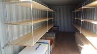 Containerhyllor & arbetsbänkar för containers
