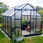 Växthus 8,9m² - Utökad odlingshöjd - REA