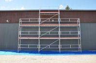 Byggställning 9x6m med gaveltopp alu 27700:-