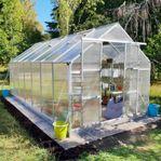 Växthus 12,4m² - Utökad odlingshöjd - REA