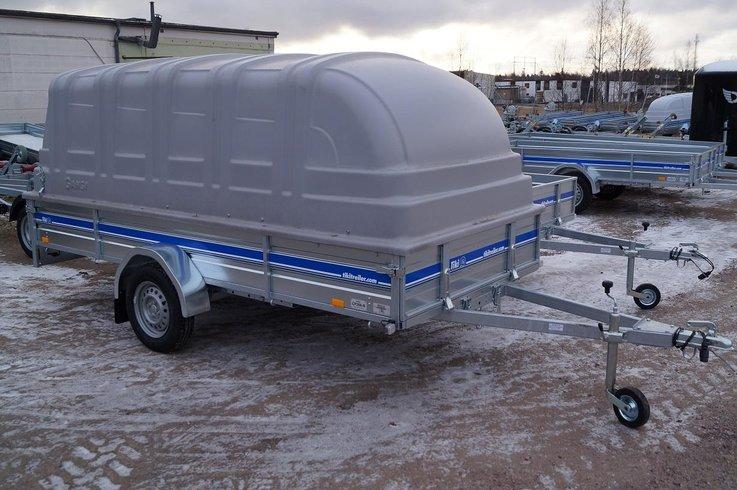 Tiki trailer c-350 proffs Inkl Kåpa FINANS - Tibro - Tiki trailer c-350 Skotersläp Inkl Kåpa FINANS / skoterFlakmått: 148 x 350 cmTotalvikt: 750 kgMaxlast: 420 kgYttermått: 487 x 187 cmLämhöjd: 33 cmAxel: gummifjädringInvändig höjd 140cmHjul: R13 4x100Tipp: JaHELSVETSAD RAM samma kåpa som  - Tibro