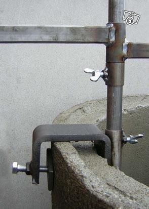 Runt grillgaller till cementring