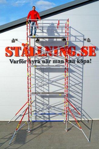 Rullställning 8 m , Erbjudande 29.900 kr + m - Sverige - Proffsställning för bygg och uthyrningsföretag med 10 års garanti.3x starkare och 10x längre livstid jämfört med vanliga svetsade ställningar.Alufase används av bla. Svenska uthyrningsfirmor, Amerikanska försvaret, NASA mm.För dig som - Sverige